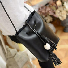 Luxury Women Tassel Leather Satchel Shoulder Tote Messenge Crossbody Bag Ladies' female girl's Bag Brand Tracolla as gift A10