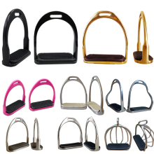 horse Riding Racing Equipment, horse stirrup,with rubber pad ,Equestrian Saddle Accessories,  Paardensport Hipica A(China)