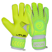 Kids Men 4mm Germany 40% latex 45% pvc goalkeeper gloves professional football thicken 5 finger save guard goalie soccer gloves(China)