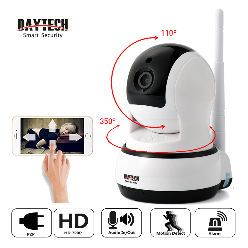 DAYTECH Home Security Surveillance CCTV IP Camera WiFi Baby Monitor HD Wireless Network Camera Two way Audio IR Night Vision<br>