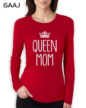 """Queen Mom"" Print Letter T Shirt Women Loose Print Short Sleeve Woman T-Shirt Cotton Tee Shirt Slim Ladies Fashion Clothes(China)"