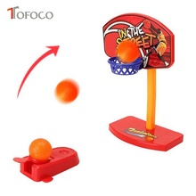 TOFOCO 20cm Mini Finger Basketball Toys Set For Kids Boy Gifts Plastic Funny Desktop Ejection Game Sports Toy