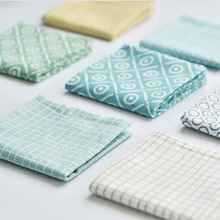 New Cloth Grid Napkins placemat heat insulation mat dining table mat kids Fashion Napkin fabric table placemats(China)