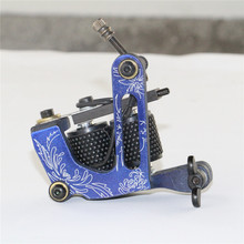 Beginner Taty Tattoo Gun One Custom Luo's Tattoo Machine Handmade 8 Warp Coil Machine For Tattoo Supplies Free Shipping TM-266