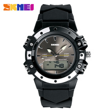 Skmei Dual Time casual digital women/men dress sports jelly military watches Christmas Gift 3AT waterproof Silicon wristwatches(China)