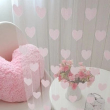 Home Decor Line Curtain Peach Heart Pink/White Living Room Kitchen Bedroom Home Decoration Curtain Off A Warm personality