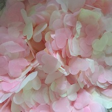 vintage romantic tissue paper heart confetti light Pink Cream pale ivory wedding decoration it is girl baby shower decorate