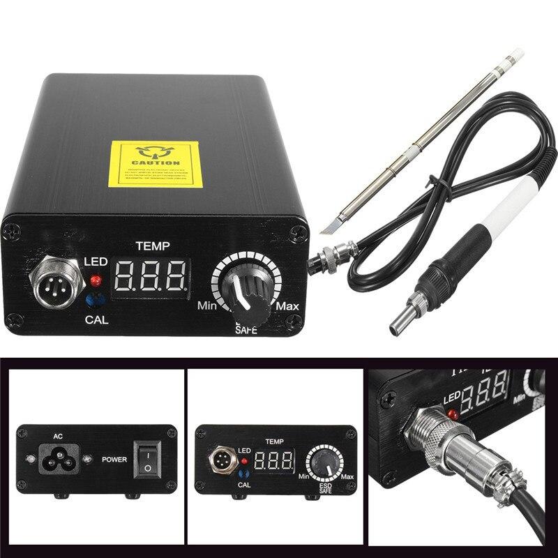 4pcs Set Digital Soldering Iron Station Adjustable Temperature Welding Solder +T12 Handle<br>