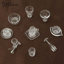 New 13Pcs/Set Doll House Cups Mini Plastic Miniatures Tableware Drink Wine Whisky Bottles Goblets Beer Plates Craft Kids Gifts(China)