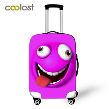 3D Cartoon Emoji Emoticon Travel Luggage Protective Covers For 18 to 30 Inch Women Dust Rain Suitcase Protections Cover