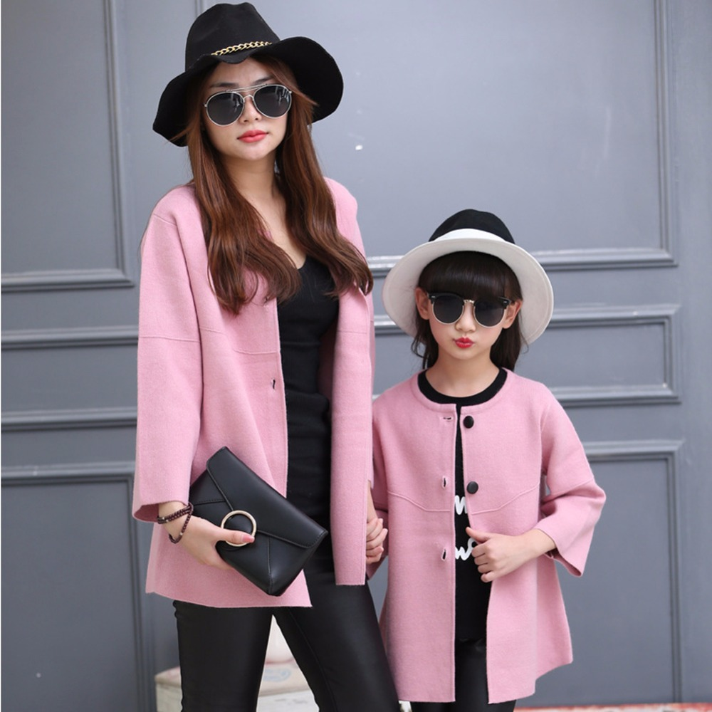 Family Matching Outfits,Spring/autumn Children sweater coats mother/Mom and daughter/Girl/children Coat kids clothing Plus Size<br><br>Aliexpress
