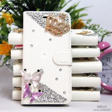 Luxury Rhinestone Diamond Bling Flip Leather Case For Apple Iphone 4s 5 5s SE 6 6s plus 7 7plus Touch 5 6 Kickstand Wallet Bag
