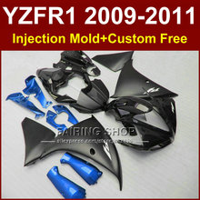 Flat black Motorcycle parts for YAMAHA  fairings YZF-R1 09 10 11 12 bodywork YZF1000  YZF R1 2009 2010 2011 R1