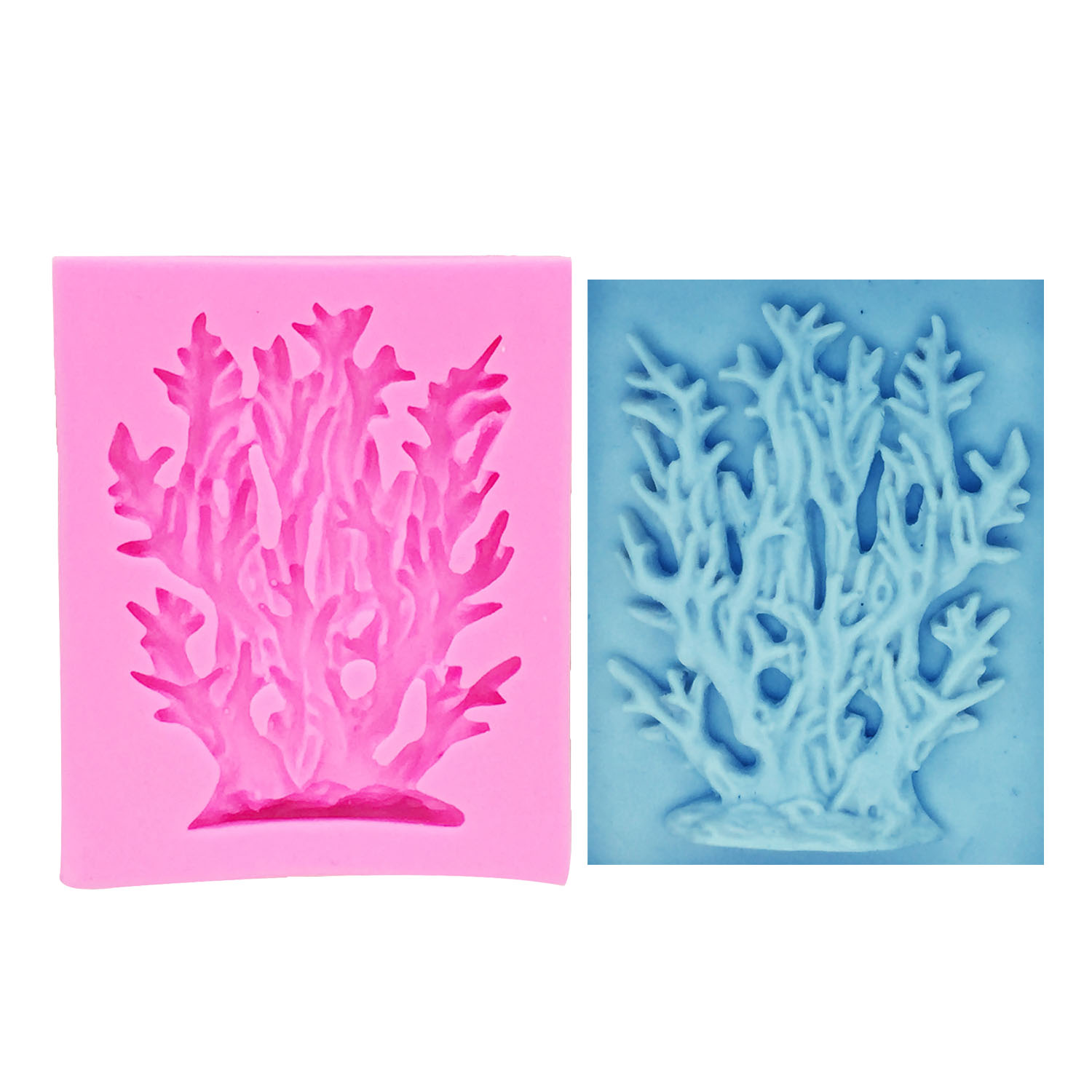 FISH SEAWEED /& CORAL Silicone Sugarcraft Cake Decorating Fondant Mould Art