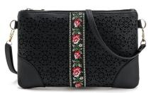 new season woman Ethnic cross bag hollow out floral messenger bag lady black bag designer brand new handbag spring clutch