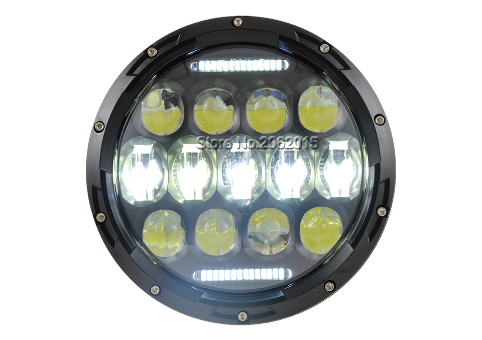 SUP-LIGHT 2PCS 75W Headlamp 7 Inch Jeep Wrangler Led Headlight with DRL for Wrangler JK TJ Cruiser Hummer H1 H2 Trucks Off Road Lights LY-7/'/'-0075A