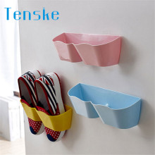 TENSKE New Arrival Home Creative Plastic Shoe Shelf Stand Cabinet Display Bedroom Wall shoes Rack storage Organizer(China)