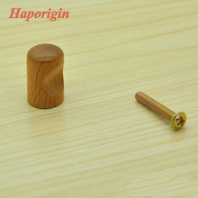 20x Wooden Kitchen Cabinet Drawer Knobs Ball Cupboard Handles Closet Cabinet Bars Bedroom Furniture Solid Wood Dresser Pulls