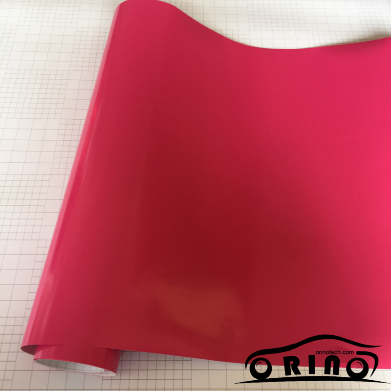 Glossy Rose Red Vinyl Wrap-2