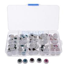 100 Pieces/Box 12mm 5 Colors Half Round Hollow Acrylic Doll Eyes Eyeballs Bear Doll Making Supplies DIY Crafts