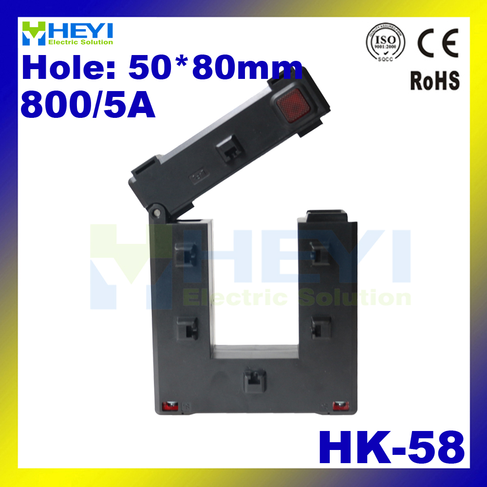 one button clamp on current transformer HK-58 800/5A high capacity split core current sensor<br><br>Aliexpress