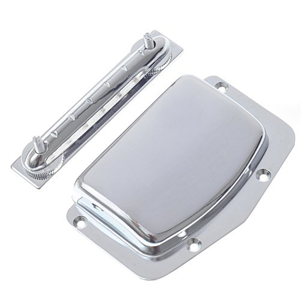 5 PCS of (1pc Harmony Kay &amp; Imports Adjustable Fixed Bridge and Cover Silver)<br>
