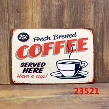 Tin Sheet Metal Sign COFFEE Vintage Picture 30 X 20cm Cafe Store Club Bar Wall Decor Plaque Poster Plate A-37232