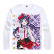 love live T-Shirt Eli Ayase Shirt Man Long sleeves t-shirts Anime Products cute style women autumn Long sleeves t-shirts Anime a(China)