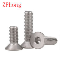 50pcs 20PCS 10PCS Allen Key Head DIN7991 M2 M2.5 M3 M4 M5 M6 Stainless steel 304 hex socket Flat countersunk head screw(China)