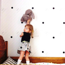 free ship 60pcs colored Polka Dots vinyl Wall Stickers,home DIY decor KITCHEN bathroom fridge cabinet PLAY ROOM