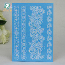 LS-628e/ Latest Lady New Lace White Henna Temporary Tattoo Sticker Totem Bracelet Designs Brand Body Art for Women Tatuagem