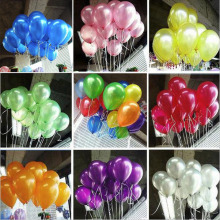 10PC IN Emulsion Thicken Pearl Light Balloon Wedding Birthday Lover Christmas Party Balls Decorations Colorful Can Choose