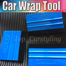 100Pcs 3M Pro Felt Edge Squeegee Vinyl Car Van Bike Wrap Wrapping Squeegee Tool Scraper Car Wrap Applicator Tool n