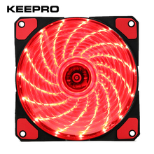KEEPRO Original 15 Lights LED Silent Fan PC Computer Chassis Fan Case Heatsink Cooler Cooling Fan DC 12V 4P 3P 120*120*25mm(China)