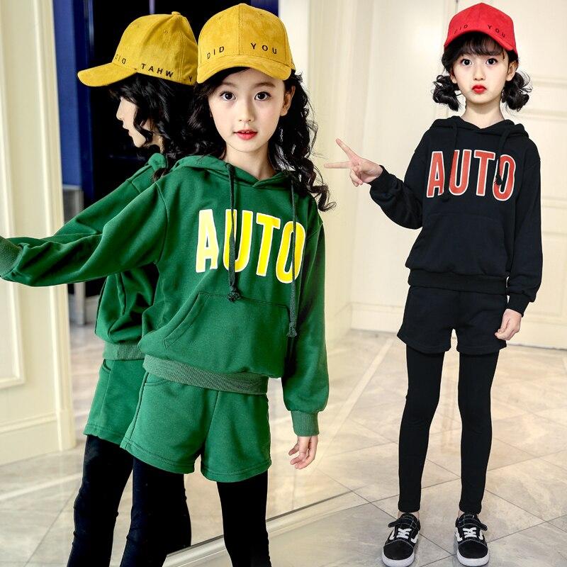 Toddler Girls Clothing Sets Kids 2018 Children Long Sleeve Letter Sweatshirts + Pants 2pcs Set Kids Tracksuits 6 8 10 12 14 Year<br>