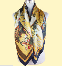 Hot Sale Fashion New size 90*90cm Imitated Silk Square Scarf Colorful Women Brand High Quality Satin Scarves Shawl(China)