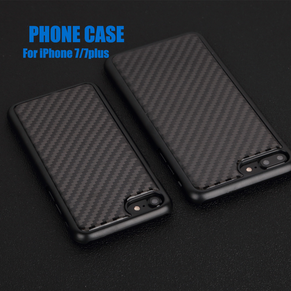 Perfect fit Phone Protector Shell Cover Case For Iphone 7 7Plus Polycarbonate circle with carbon fiber plate phone cell<br>