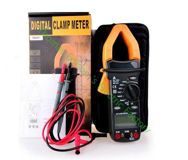 High quality Hot Digital Clamp Meter Multimeter AC DC Current Volt Tester Ms2001<br>
