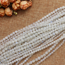 "Wholesale Natural Rainbow Moonstone 4-8mm Round Beads 15""(with few black point), DIY Jewelry Making ! wholesale for all items!"
