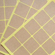 90pcs Vintage Blank Square Kraft seal Sticker for Handmade Products /35mm Round Gift sealing sticker / DIY note label(China)