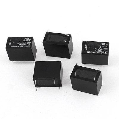 5 Pcs 835NL-1A-V 4Pin NO Normal Open Power Relay DC 12V Coil Voltage<br><br>Aliexpress