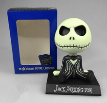 10cm The Nightmare Before Christmas jack Wacky Wobbler Bobble Head PVC Action Figure Model Toy Car decoration(China)