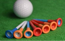 Golf ball Soft rubber sleeve ball nail plastic one set random color selling(China)