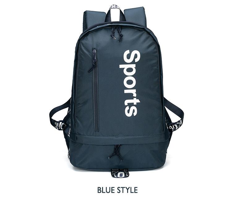 OZUKO Fashion Multifunction Sports Backpack with Shoes Bag for Men Women Laptop Shoulder Bag for Teenage Boys Girls Student Bag