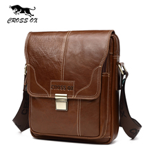 CROSS OX 2017 Summer New Vintage Wax Leather Portfolio For Men Cross Body Bag Men's Shoulder Bag iPad Tablet Bag SL416M