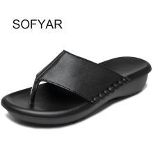 2017 flip flop microfiber leather solid wedges flat with slipper women home slides fashion sewing ladies shoes spring summer(China)