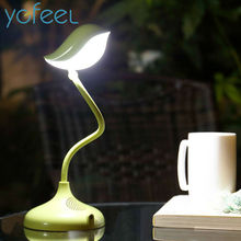 [YGFEEL] Table Lamps Creative Lovely Bird Gift Reading Light Dimmable 360 Degree Adjustment With USB DC5V 500MA Lithium Battery(China)