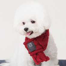 Warm Dog Scarf Winter Christmas Scarf for Small Medium Dogs Puppy Bow Tie Dogs Collars Pet Products Accessories 11cy2(China)