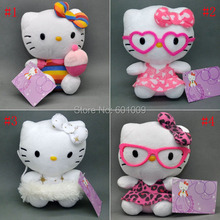 Free Shipping EMS 100/Lot Cute 4  Styles New Hello Kitty Plush Doll Figure Toy 6""