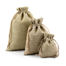 Jute Bags Hessian Hemp Drawstring Bags Wedding Favor Gift Pouch Packaging Burlap Bags Jewelry Pouches Supplies For Amber Packing(China)